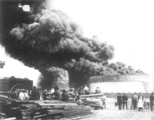 Storage Tank Fire on October 5, 1913.