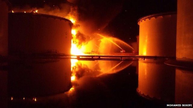 Fuel Tank Blaze in Tripoli 1