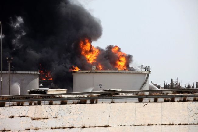 Fuel Tank Blaze in Tripoli 3