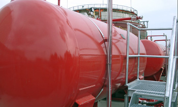 FoamFatale storage tank fire extinguishment system we have built - Oiltanking Hungary