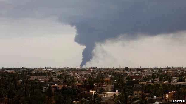 Fuel Tank Blaze in Tripoli 2
